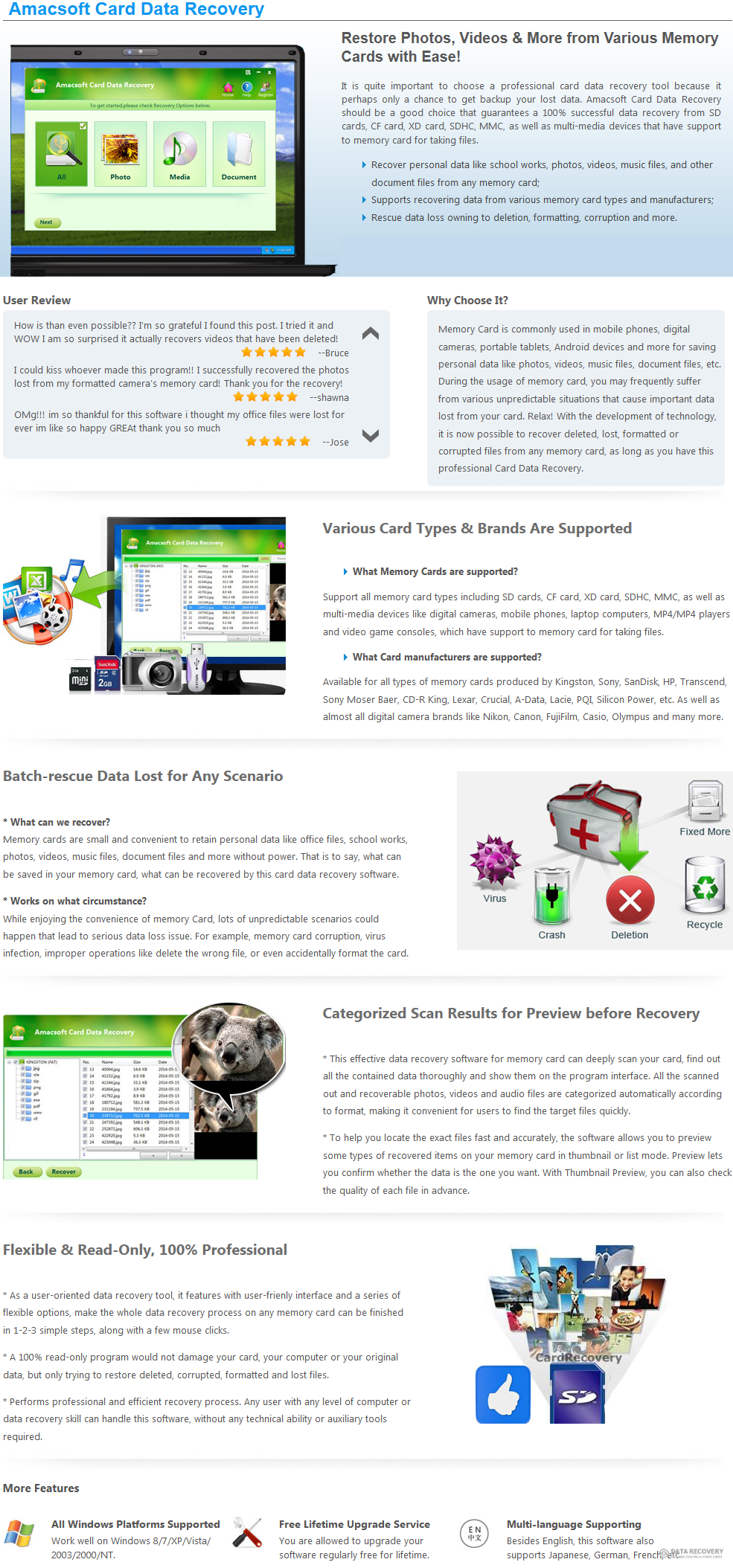 Amacsoft Card Data Recovery Discount Coupon Code