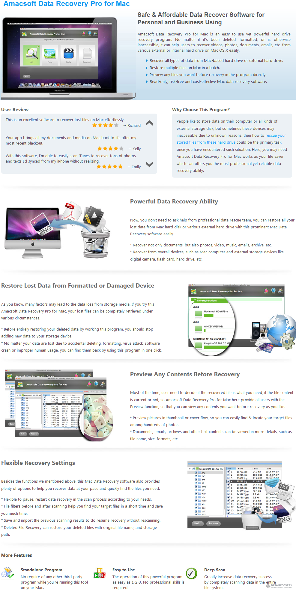 Amacsoft Data Recovery Pro for Mac Discount Coupon Code