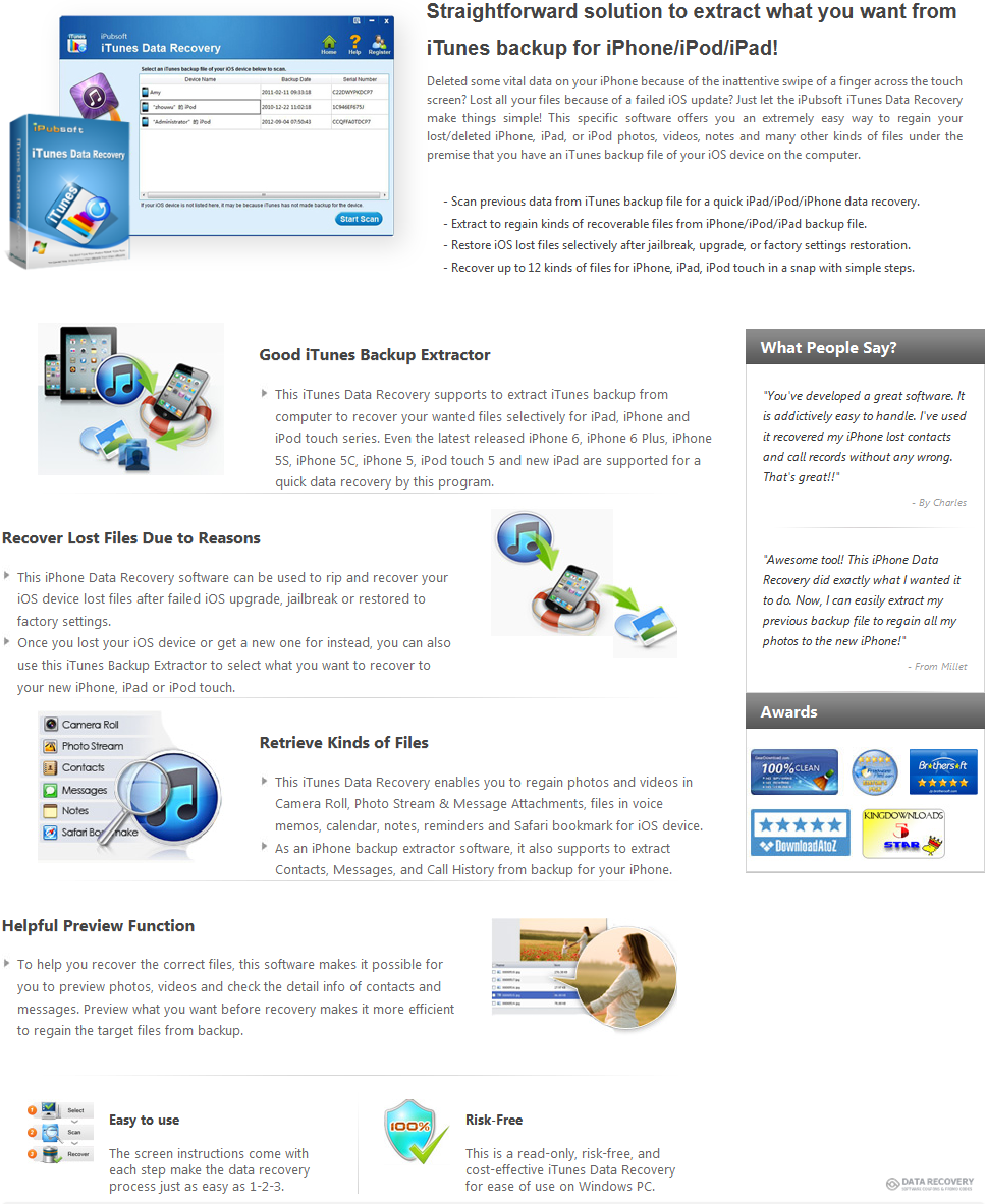 iPubsoft iTunes Data Recovery Discount Coupon Code