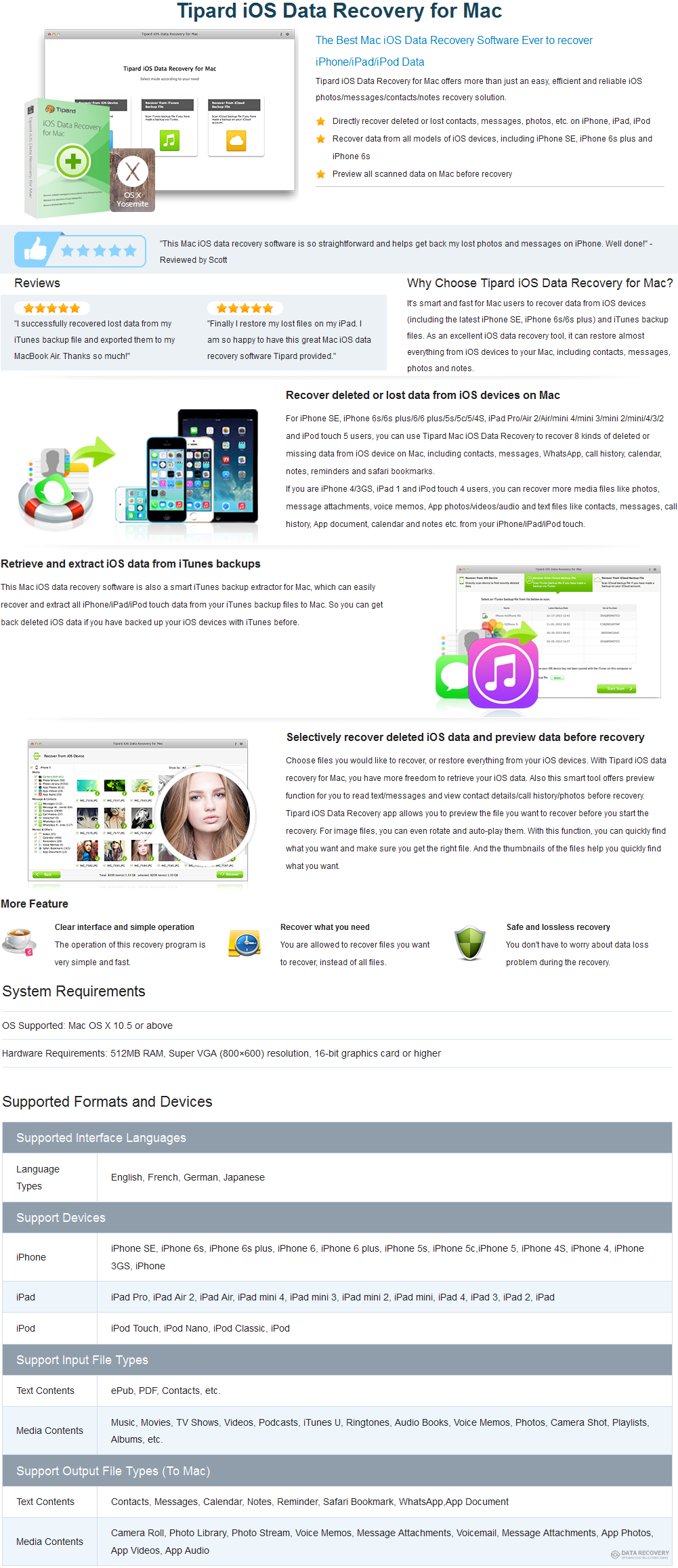 Tipard iOS Data Recovery for Mac Discount Coupon Code