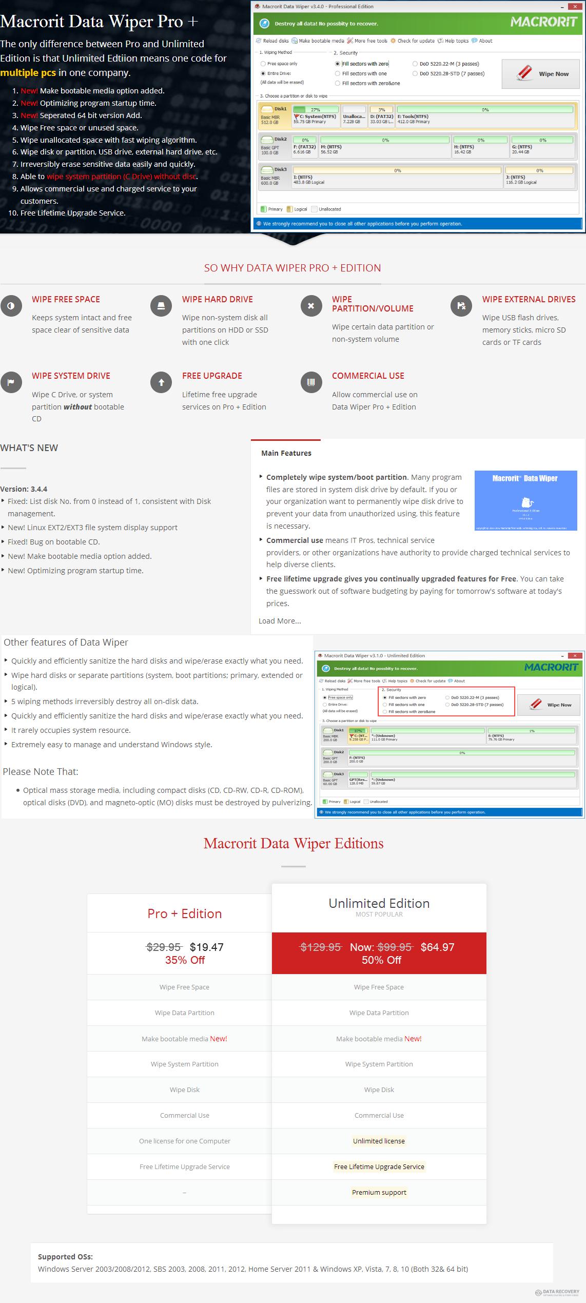 Macrorit® Data Wiper Pro Discount Coupon Code