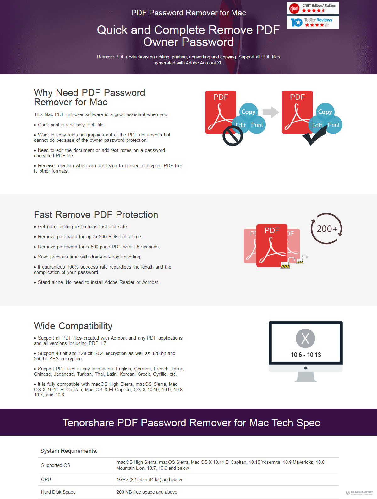 Tenorshare PDF Password Remover for Mac Discount Coupon Code