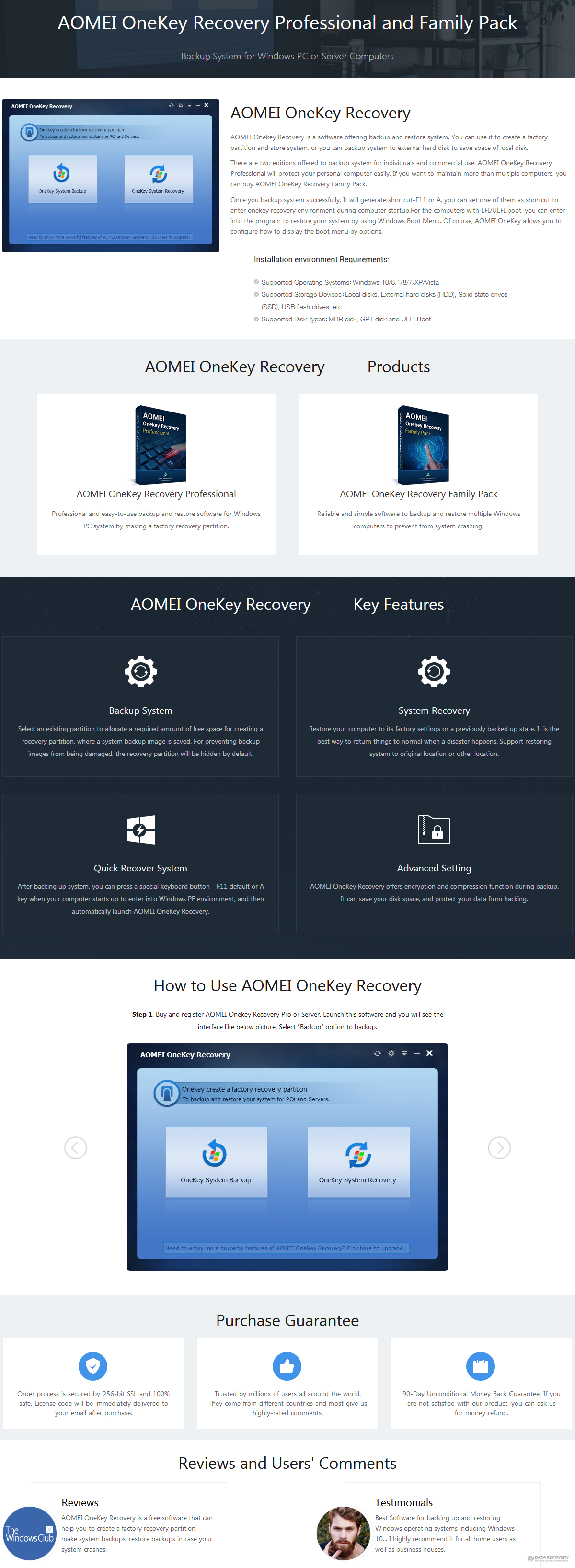 aomei onekey recovery professional license key
