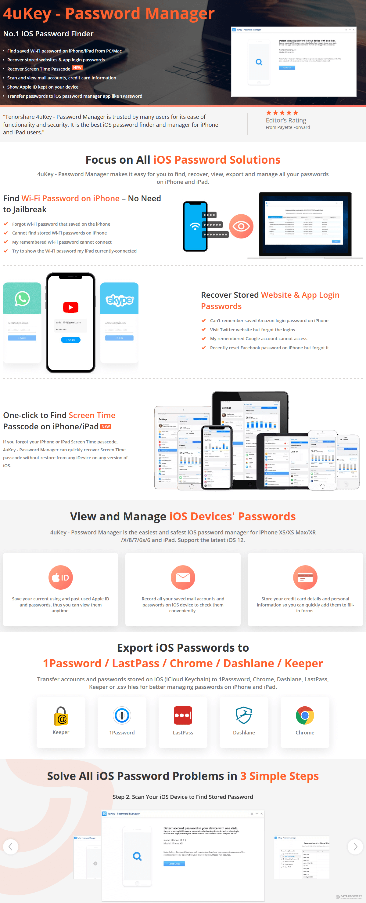 Tenorshare 4uKey iOS Password Manager Discount Coupon Code
