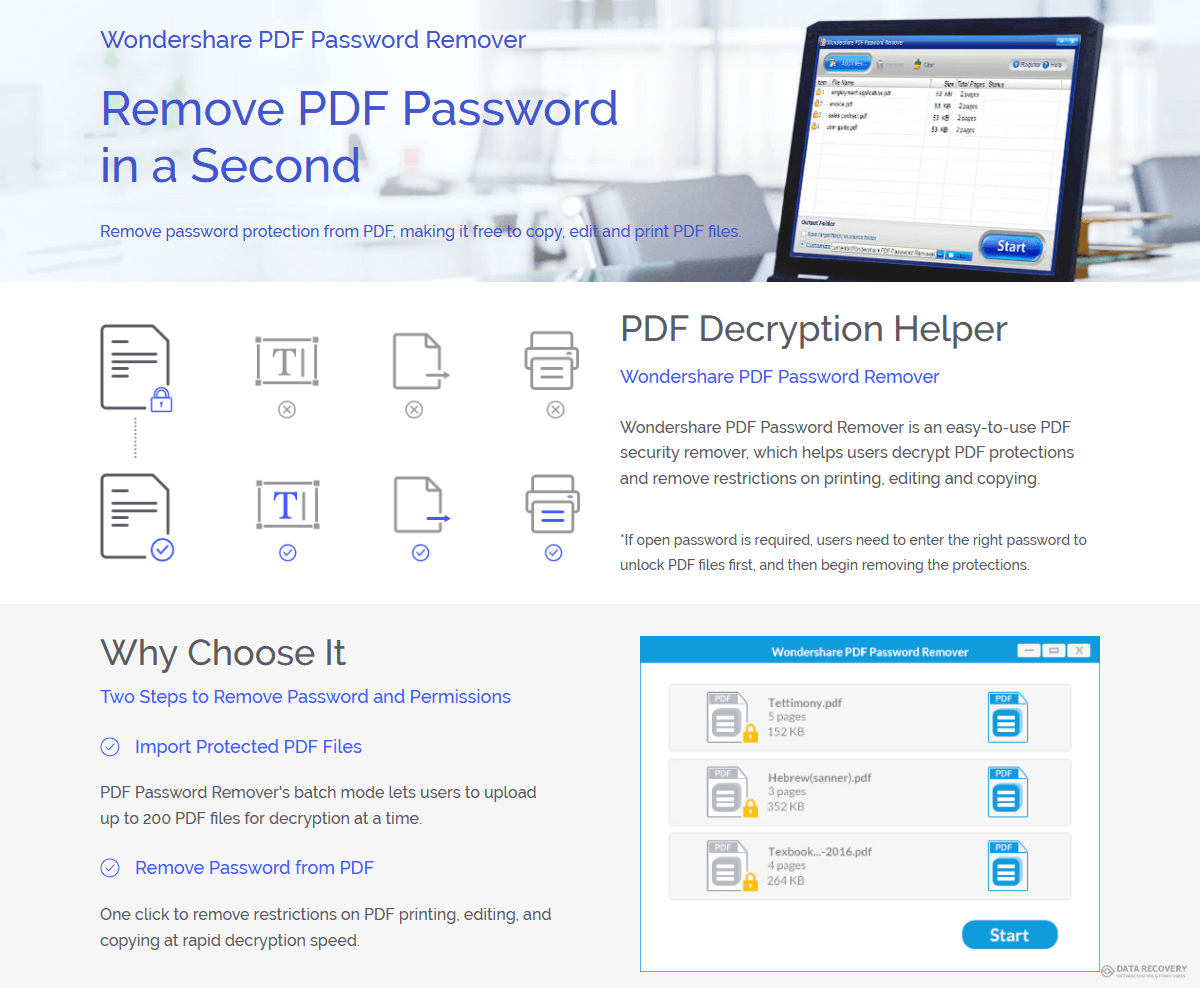 Wondershare PDF Password Remover Discount Coupon Code
