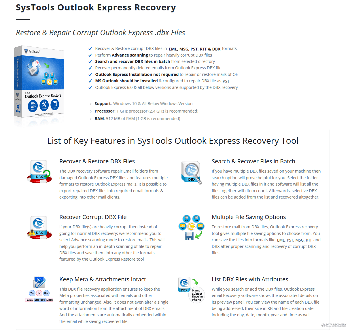 SysTools Outlook Express Restore Discount Coupon Code